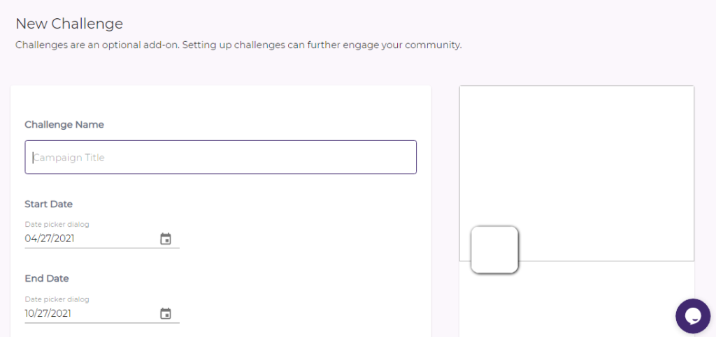New challenges page on Pukket